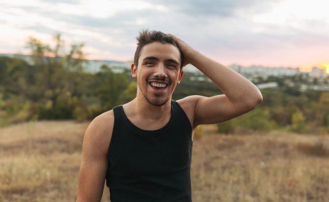 Happy smiling man