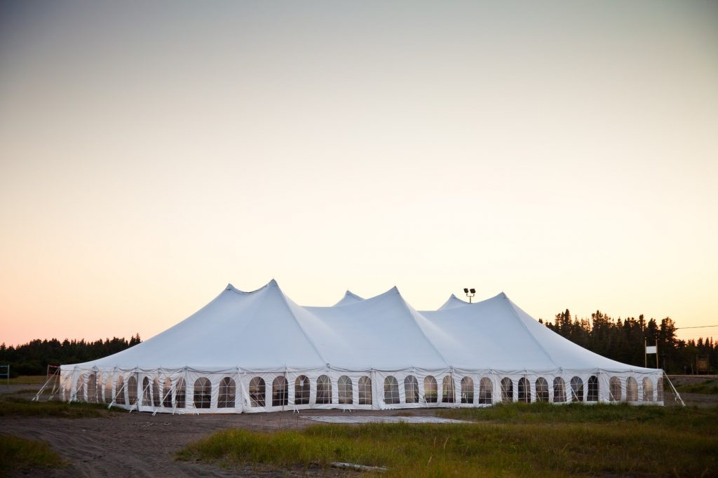 A party or event white tent
