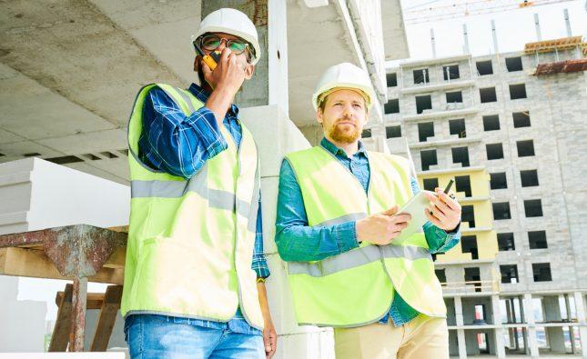 Building Contractors on Site