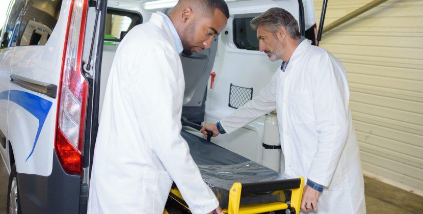 preparing the ambulance